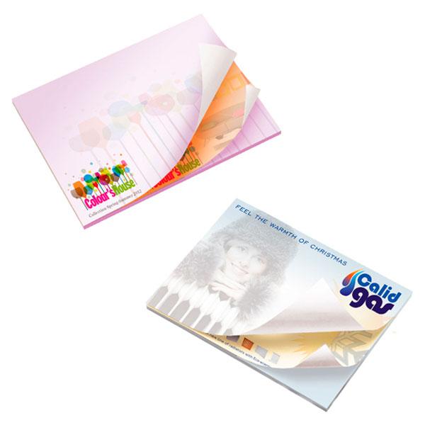 BIC 101 mm x 75 mm Notas Adhesivas Alternating Sheet Imprint