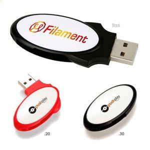 09440 Oval Folding USB 2.0 Memoria USB