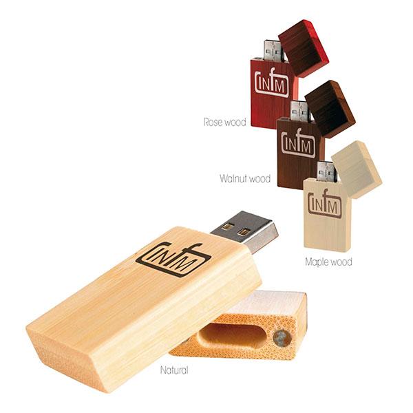 09454 Bamboo Rectangle USB 2.0 Memoria USB