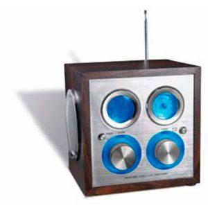 05094 Radio cúbica de madera