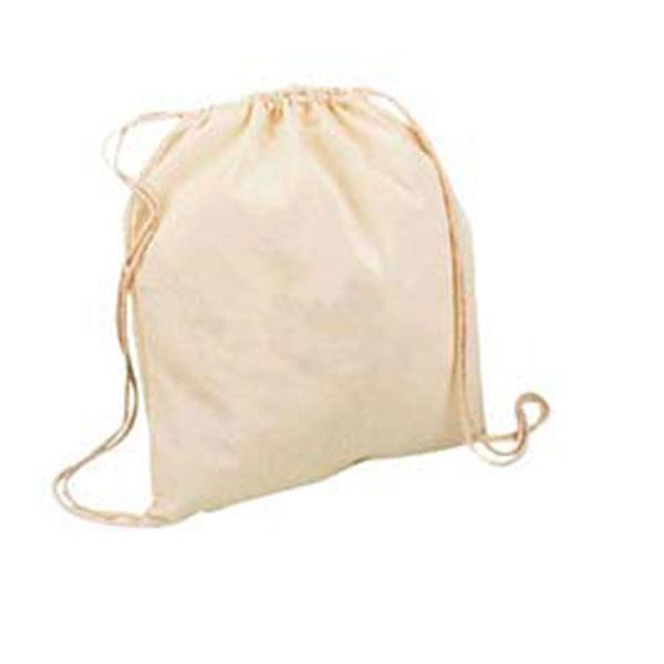 75006 Mochila de algodón con cordones