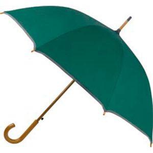96022 Paraguas automático con ribete plateado