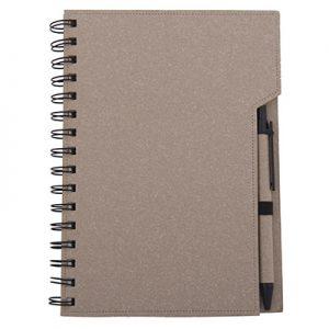 13186 Libreta ecológica de color con bolígrafo