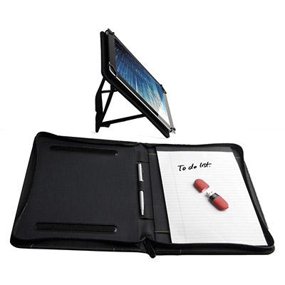 09504 Portafolios de color contrastado con soporte para tablet