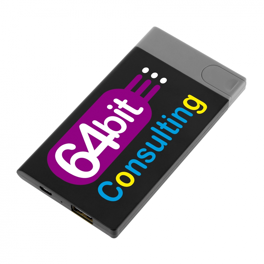 09673 Batería externa fina 2.500 mAh con unidad USB de 4 GB extraíble